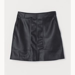 Faux Leather A-line skirt!